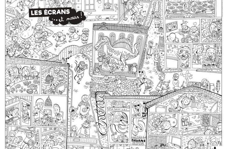 Coloriage Interactif Les Ecrans Et Nous Mutualite Francaise Normandie